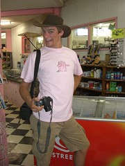 Tim Looking Manly In His Pink TShirt