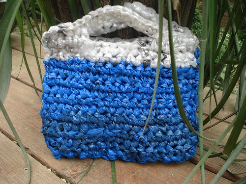Crocheting Using Plastic Bags : Crocheted plastic bag evening bag Visualize Whirled Peas