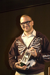 Cory Doctorow with EFF Pioneer Award