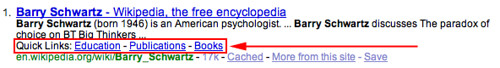 Yahoo Quick Links Example