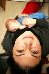 rachel nursing sequoia - _MG_2881 (sean dreilinger) Tags: woman baby oregon dinner spring infant mother son diningroom breastfeeding nursing lakeoswego fivemonthsold sequoiaraindreilinger rachellovedreilinger rachellind 20070330