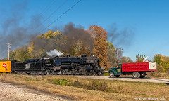 Arriving at Burnett (kdmadore) Tags: steamlocomotive steam soo1003 soo train railroad wisconsinsouthern wsor mikado sooline steamengine