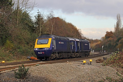 Back to Back (Treflyn) Tags: backtoback great western hst class 43 power cars 43156 43015 southcote junction reading 0z77 old oak common laira move