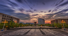 Sunset (Asif Hasnat Monon) Tags: sunset sunrise bluehour goldenhour architecture contrast radialblur longexposure slowshutter colorful awesome panorama orange blue purple university campus library npu nwpu xigongda xian shaanxi china northwestern polytechnical 西北工业大学 landscape outdoor hdr