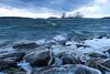 December Gale (deanspic) Tags: stlawrenceriver waves whitecaps ice shoreice wind windy gale rocks g3x winter