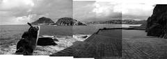 Donostia corner (hansbrinker) Tags: bw stone paisaje panoramic panoramica chillida donostia piedra peinedelosvientos panography peñaganchegui
