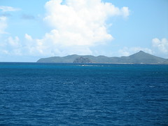Looking across to another island in the chain. It may be Mustique, but I'm not sure.