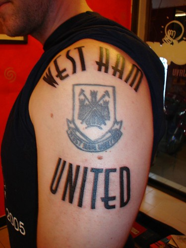 west ham united tattoo (Dejavu Tattoo Studio Chiangmai Thailand)