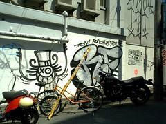 Andre, RF (booogiemonster) Tags: streetart art japan silver graffiti tokyo faile graf andre harajuku tron qp rf monsieura mra mrandre trowup