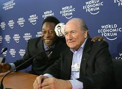Pele, Sepp Blatter - World Economic Forum Annu...