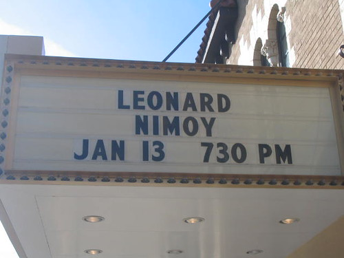 Leonard Nimoy Is Coming to Town!