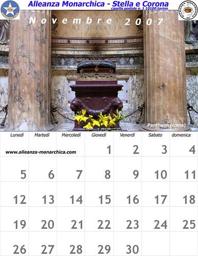 Calendario novembre 2007
