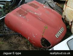 scrapyard_jaguar_etype (reallyloud) Tags: cars dead smash rust scrapyard jaguar etype