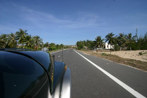 Smooth tarmac near Mui Ne.