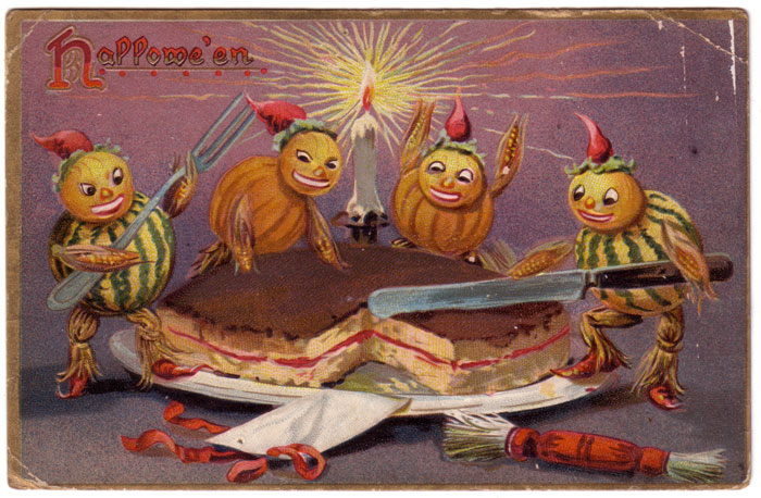 Vintage Holiday Images Cards Halloween