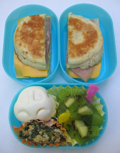 Muffin sandwich lunch for toddler お弁当