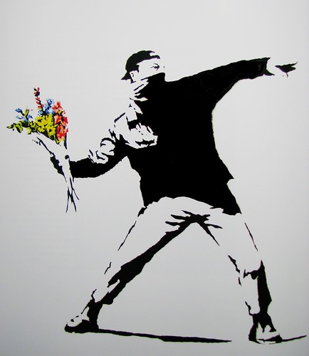 Flower power by Banksy