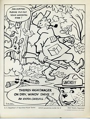 Smokey the Bear coloring sheet