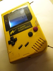 Yellow DMG Gameboy with backlight