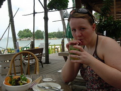 Tasting Mojitos in Sentosa