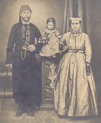 Abraham Lisbona & wife - Alexandria 1875