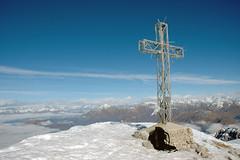 GRIGNA SETENTRIONALE, VETTA (Momenti di Montagna) Tags: winter italy mountain snow alps weather clouds trekking montagna gennaio 2007 alpinism grignone brioschi valsassina grigna
