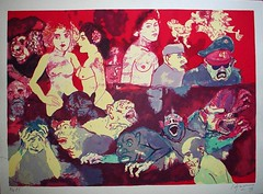 'Carlos Alonso en el infierno' 2005 (Malevo Estampa) Tags: art screenprint arte contemporary screenprinting silkscreen alonso estampa grabado serigrafa carlosalonso