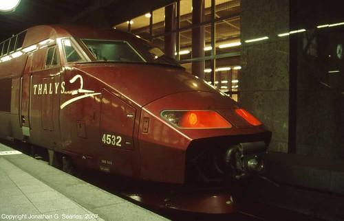Thalys TGV #4532, Bruxelles-Midi Station, Brussels, Belgium, 2007