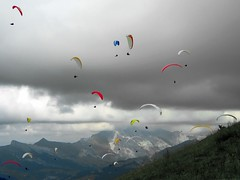 Paragliding competition (fabriceh) Tags: alps alpes competition paragliding thermal parapente laclusaz thermique abigfave top20paragliding