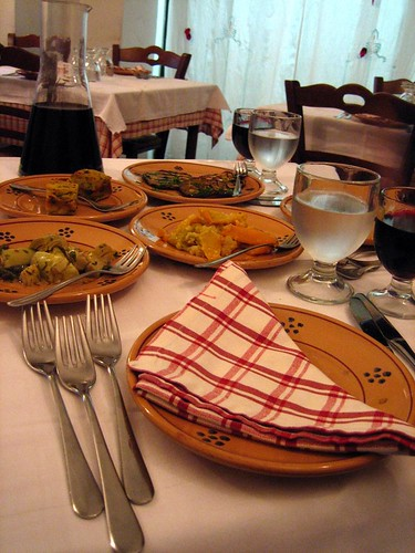 Antipasta della Casa with place setting