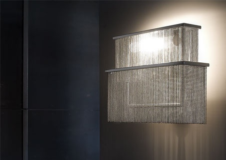 LUMINAIRE - shine chain wall sconce