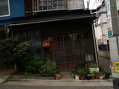 on gradient (umitomo) Tags: road street old house mailbox grate tokyo living wooden rust rusty structure 100views gradient housing 300views 200views heel woodenhouse dip powerpole leaning slope lattice wobbly sloping wibbly timbered togoshiginza 1454mmf2835 anglesanglesangles