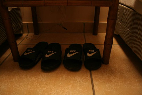 Nike Slippers in Zhiyuan Hotel
