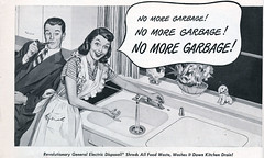 i can't hear you (a nameless yeast) Tags: 1948 kitchen magazine ad garbagedisposal houseandgarden housewife retrospeechbubble