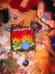 IMG_7576.JPG (monsterpants) Tags: birthday party colour crafts birthdayparty veggies synaesthesia crafttable truecolours colourparty birthday2007 synaesthesiaparty blueranch
