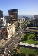 Photo shows Adderley Street, Cape Town