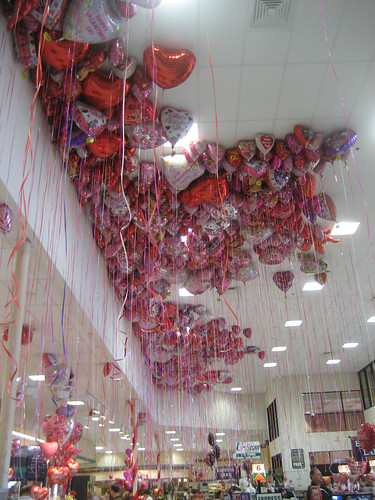 Valentine's Day balloons at Kroger