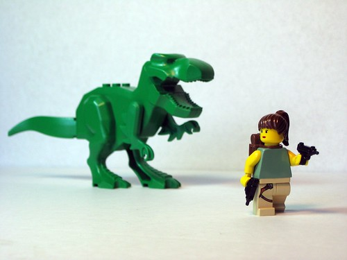Lara Croft vs. T. Rex