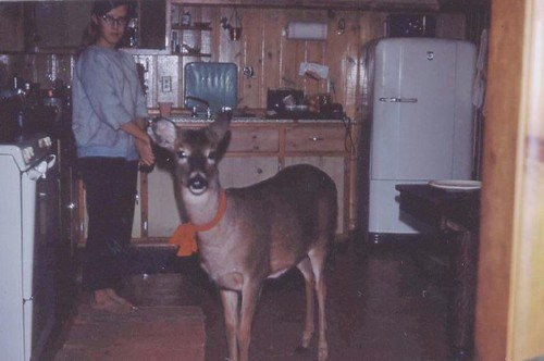 Betsy with Daisy the deer.