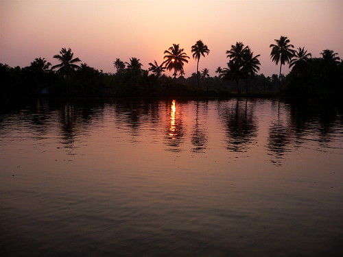 Sunset in the Backwaters