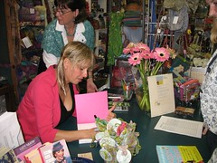 Deb Stoller signing at Hill Country