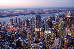 Midtown Manhattan and New Jersey from Empire S...