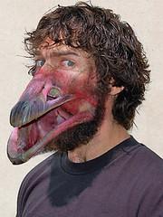 Zoonotic (Foto Alien) Tags: portrait bird photomanipulation photoshop self beak manipulation birdman