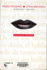 José Sanchís Sinisterra, Mísero Próspero y otras Breverías