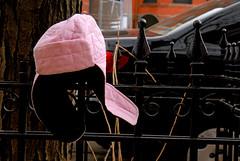 Lost Pink Hat (Violentz) Tags: pink hat boston found lost missing newburystreet pinkhat