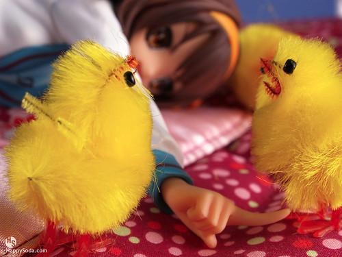 Haruhi Chicks Bed