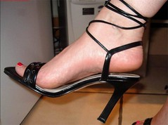 Strappy Highheel (heelsandfeet) Tags: ladies sexy feet closeup fetish foot shoes highheels arch sandals bare barefoot wife heels barefeet heel sole ankle soles spikes straps slings stilettos strappy womans tiptoes slingback bareheel