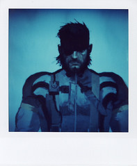 naked snake (BIGBOSS) (thezephyrsong_tzs) Tags: polaroidsx70 polaroid sx70 blue snake metalgearsolid ashleywood metal gear solid ashley wood