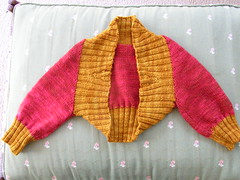 Two tone shrug (stupid clever) Tags: knitting knit shrug malabrigo glampyre stefaniejapel fittedknits twotoneshrug