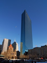 The many faces of the new John Hancock Tower (cgc0202) Tags: winter usa boston ma us nikon cityscape unitedstates massachusetts backbay copleysquare johnhancocktower tokina1224mm nikond200 winter2007